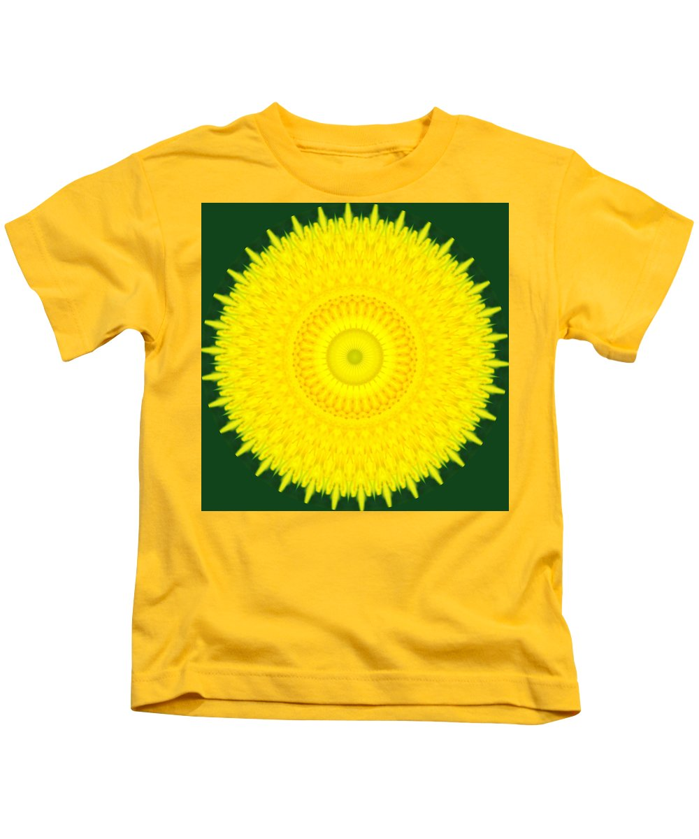 Dandelion Kids T-Shirt featuring the photograph Dandelion Abstract by Chris Day