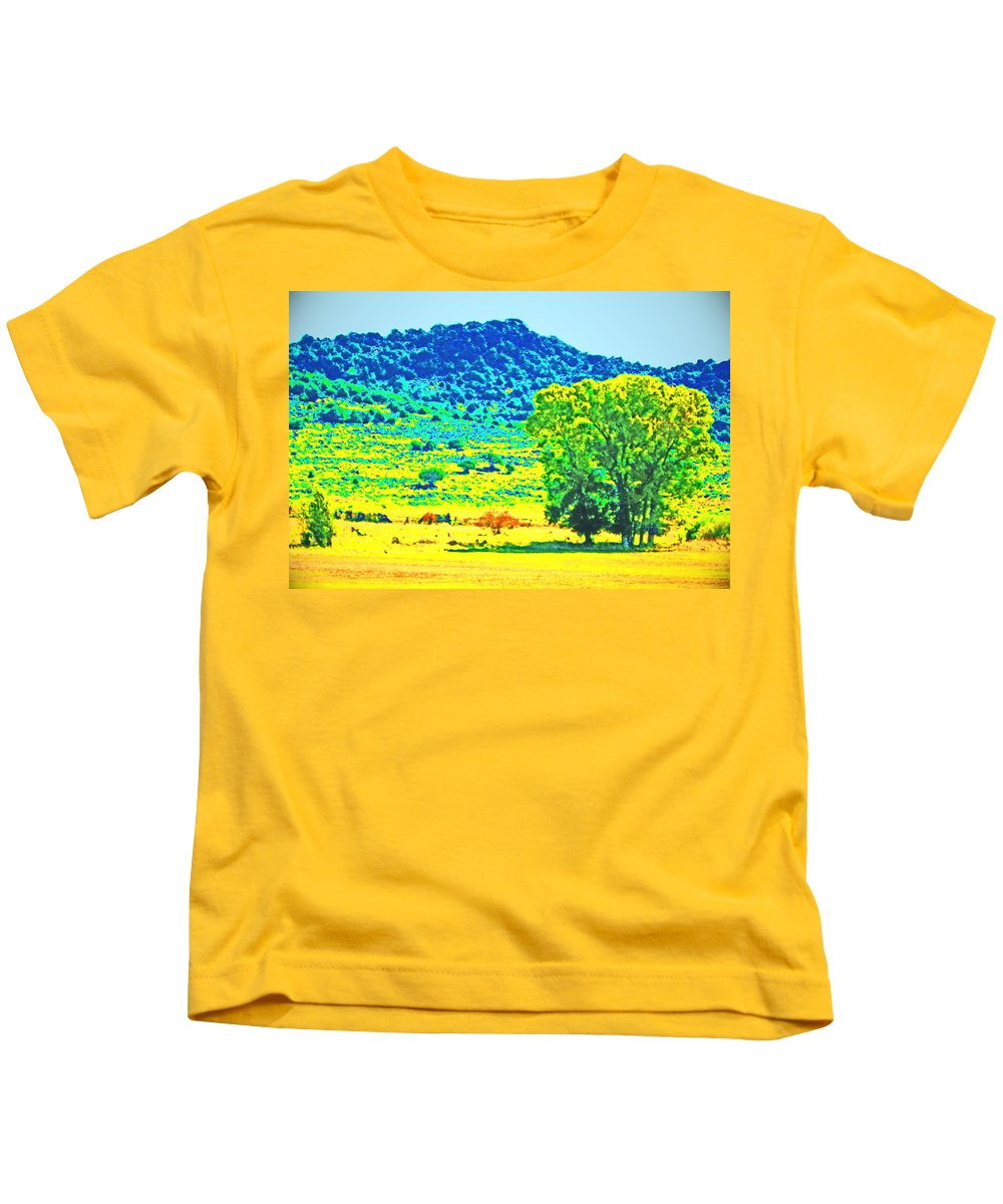 Expressive Kids T-Shirt featuring the photograph Meadows And The Cedar Breaks by Lenore Senior