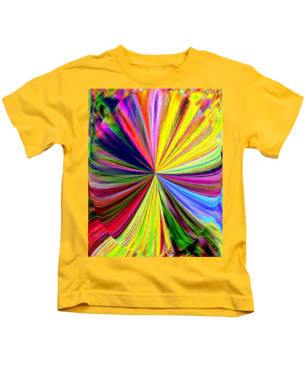 Abstract Kids T-Shirt featuring the digital art Pizzazz 39 by Will Borden