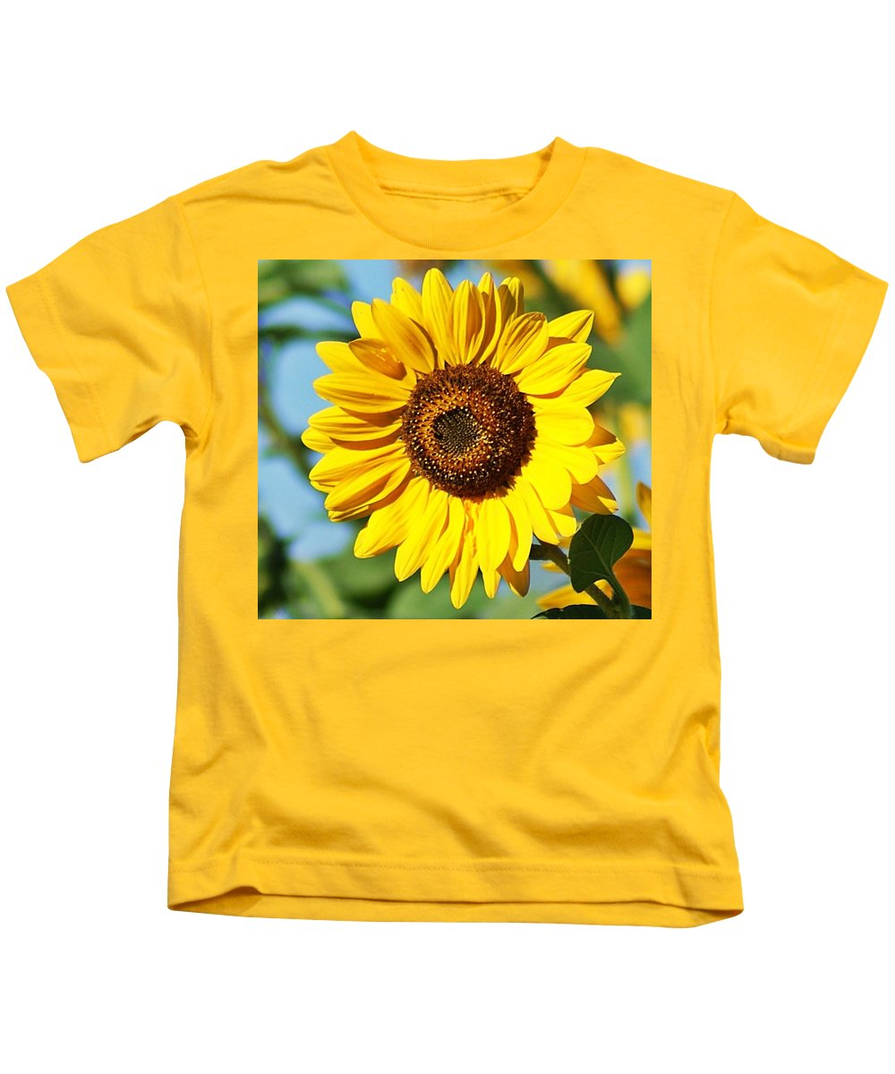 Sunflower Kids T-Shirt featuring the photograph Sunflower Small File by Joe Faherty