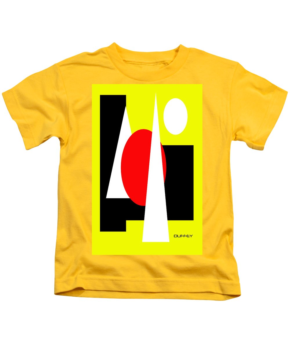 Post Constructivism/geometric Digital Drawings Kids T-Shirt featuring the photograph Untitled Ch 10 by Doug Duffey