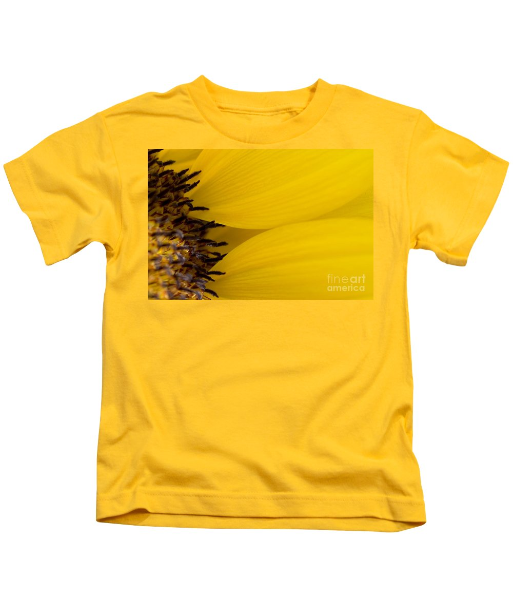 83-pfs0180 Kids T-Shirt featuring the photograph Flower Abstract by Ray Laskowitz - Printscapes
