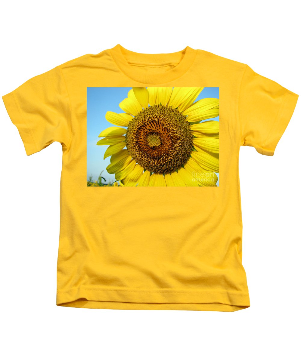 Sunflower Kids T-Shirt featuring the photograph Sunflower Series by Amanda Barcon