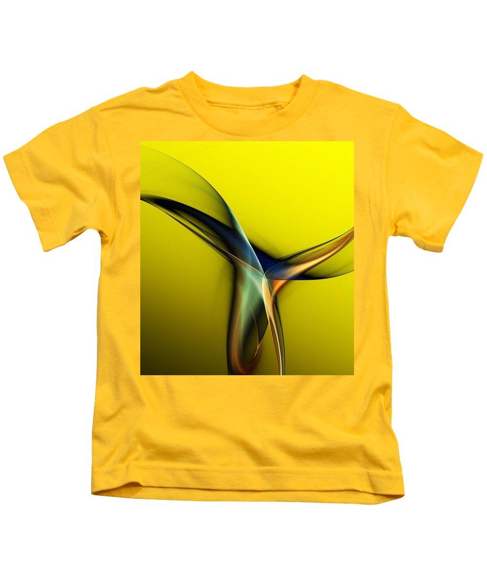 Fine Art Kids T-Shirt featuring the digital art Abstract 060311 by David Lane