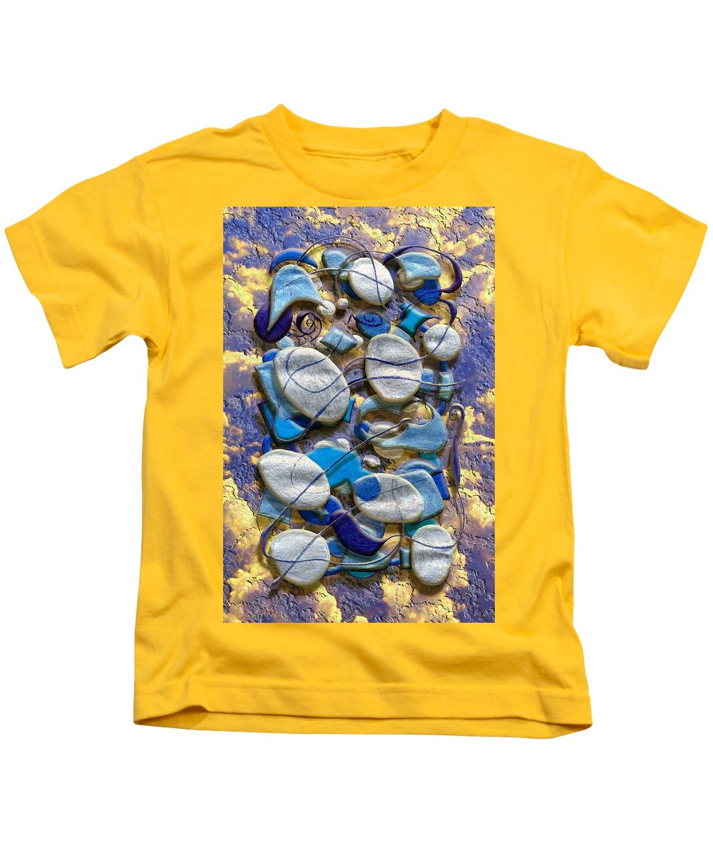 Abstract Kids T-Shirt featuring the digital art An Arrangement Of Stones by Mark Sellers