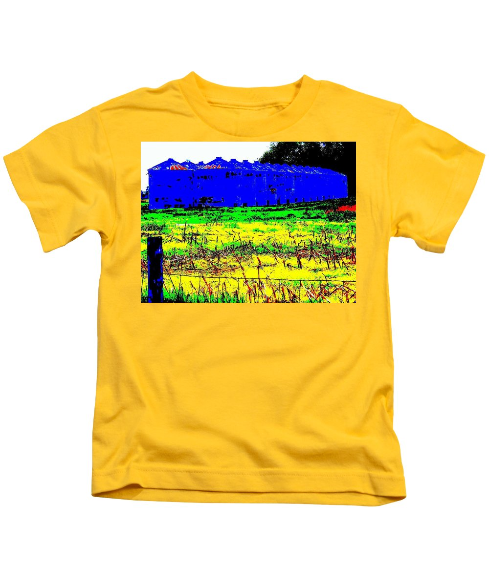 Landscape Kids T-Shirt featuring the photograph Andys Farm by Ed Smith
