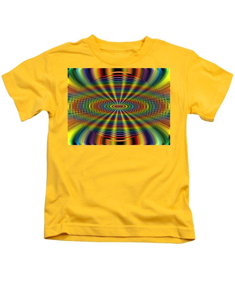 Colorful Kids T-Shirt featuring the digital art Atomic Rainbow by Lorna Hooper