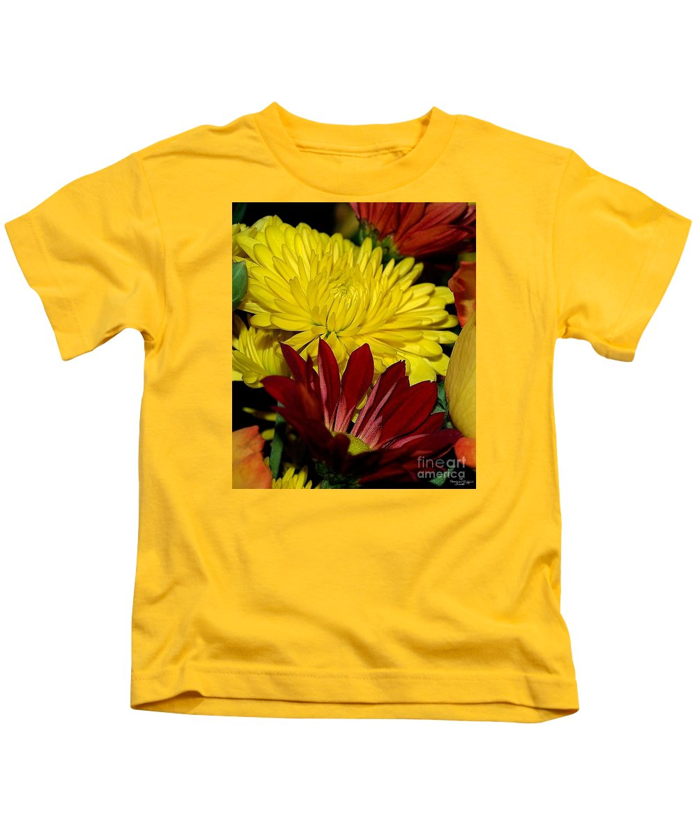 Chrysanthemum Photography Kids T-Shirt featuring the photograph Autumn Colors by Patricia Griffin Brett
