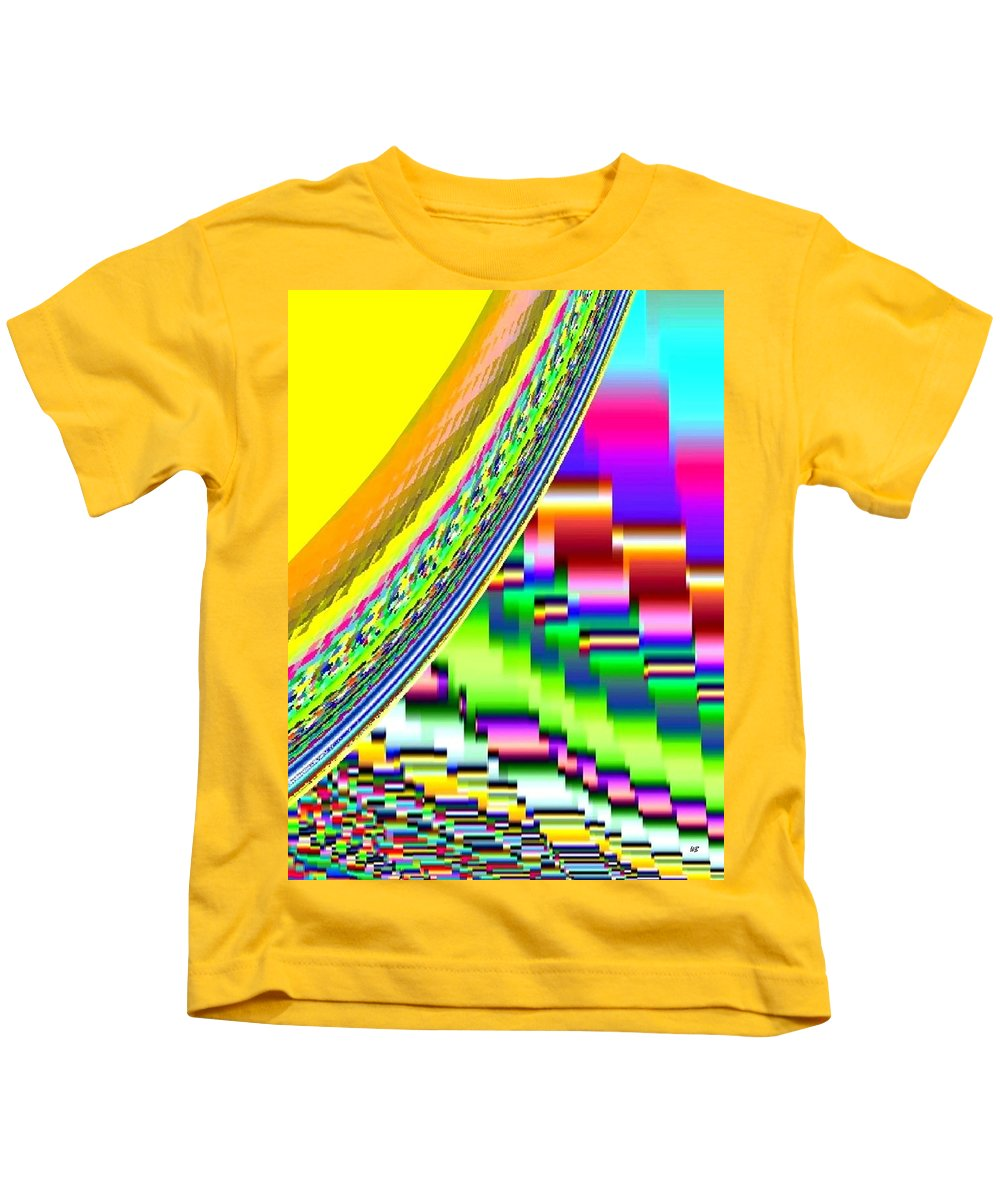 Abstract Kids T-Shirt featuring the digital art Candid Color 6 by Will Borden