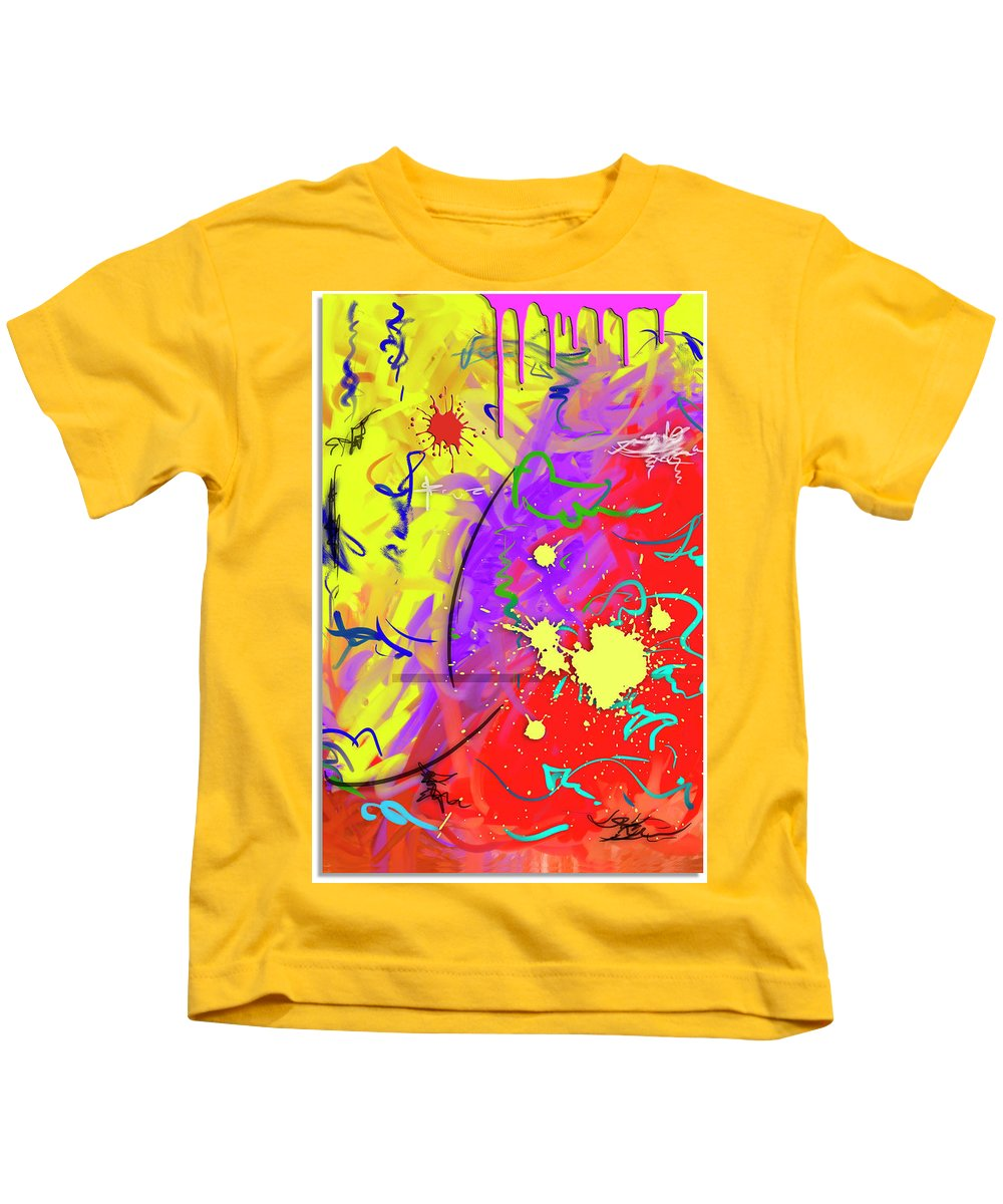 Abstract Kids T-Shirt featuring the painting Celebration by Snake Jagger