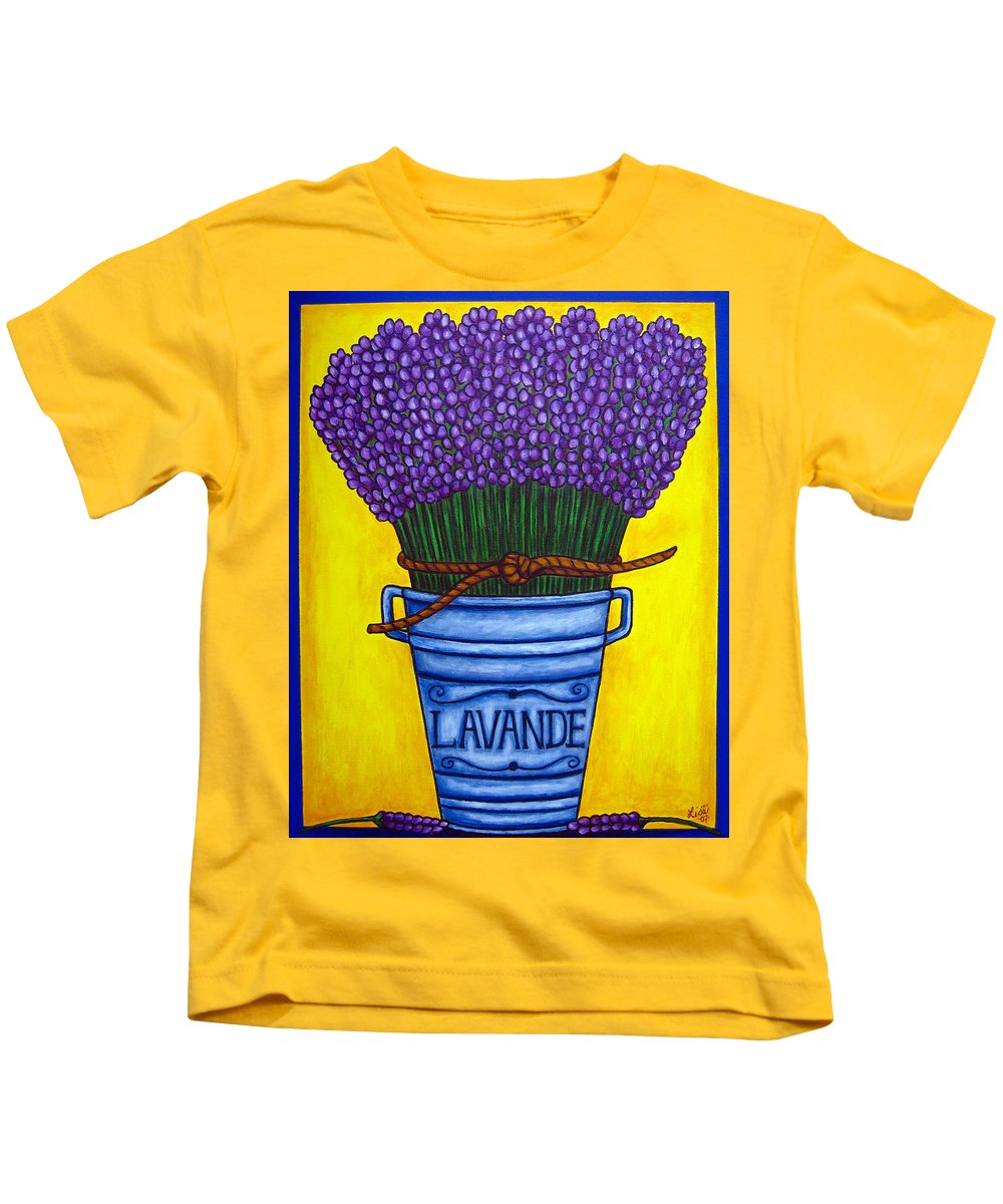 Antique Kids T-Shirt featuring the painting Colours of Provence by Lisa Lorenz
