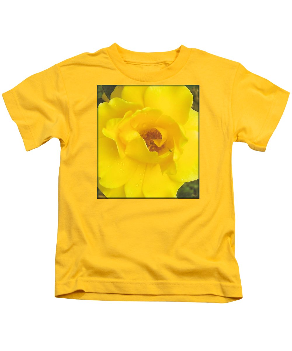 Rose Kids T-Shirt featuring the photograph Daddy's Rose by Robin Ayers
