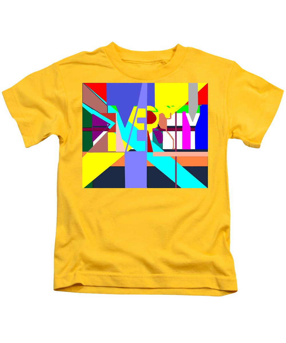 Diversity Kids T-Shirt featuring the digital art Diversity Enmeshed by Pharris Art