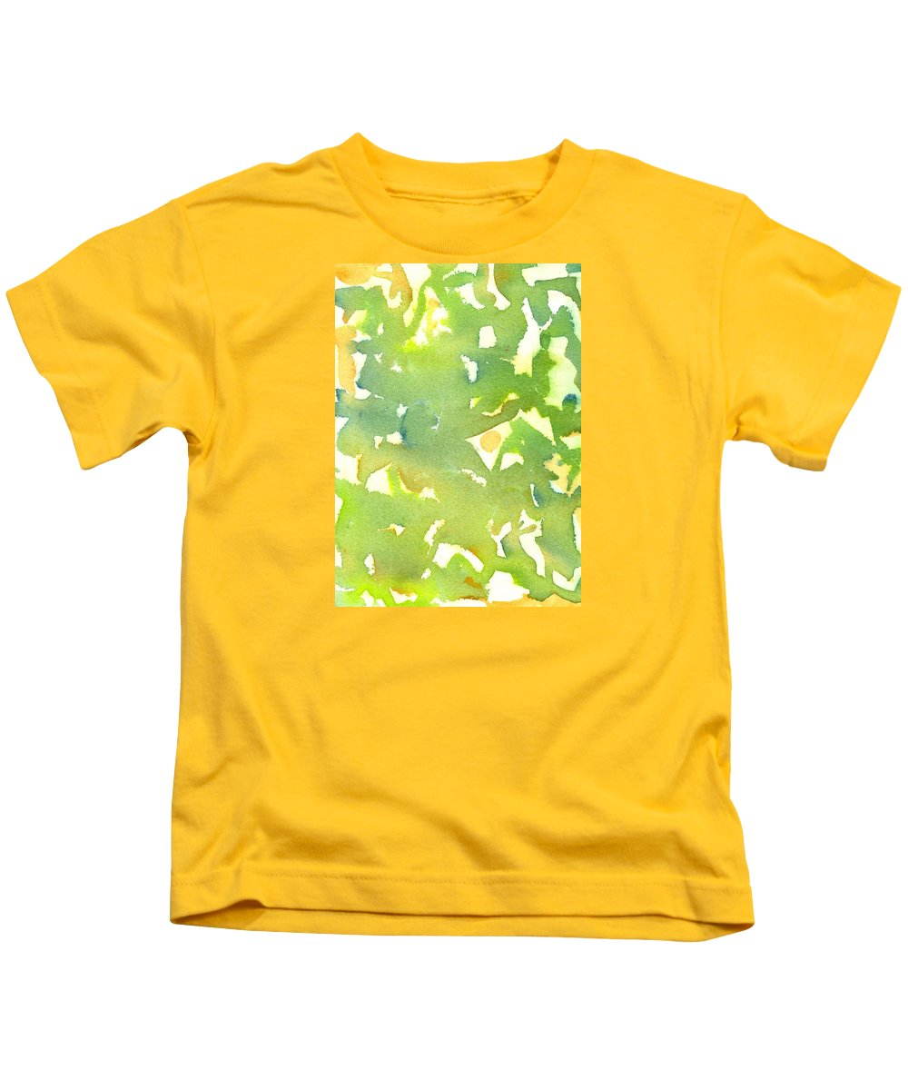 Green Kids T-Shirt featuring the painting Eat Your Greens by Marcy Brennan