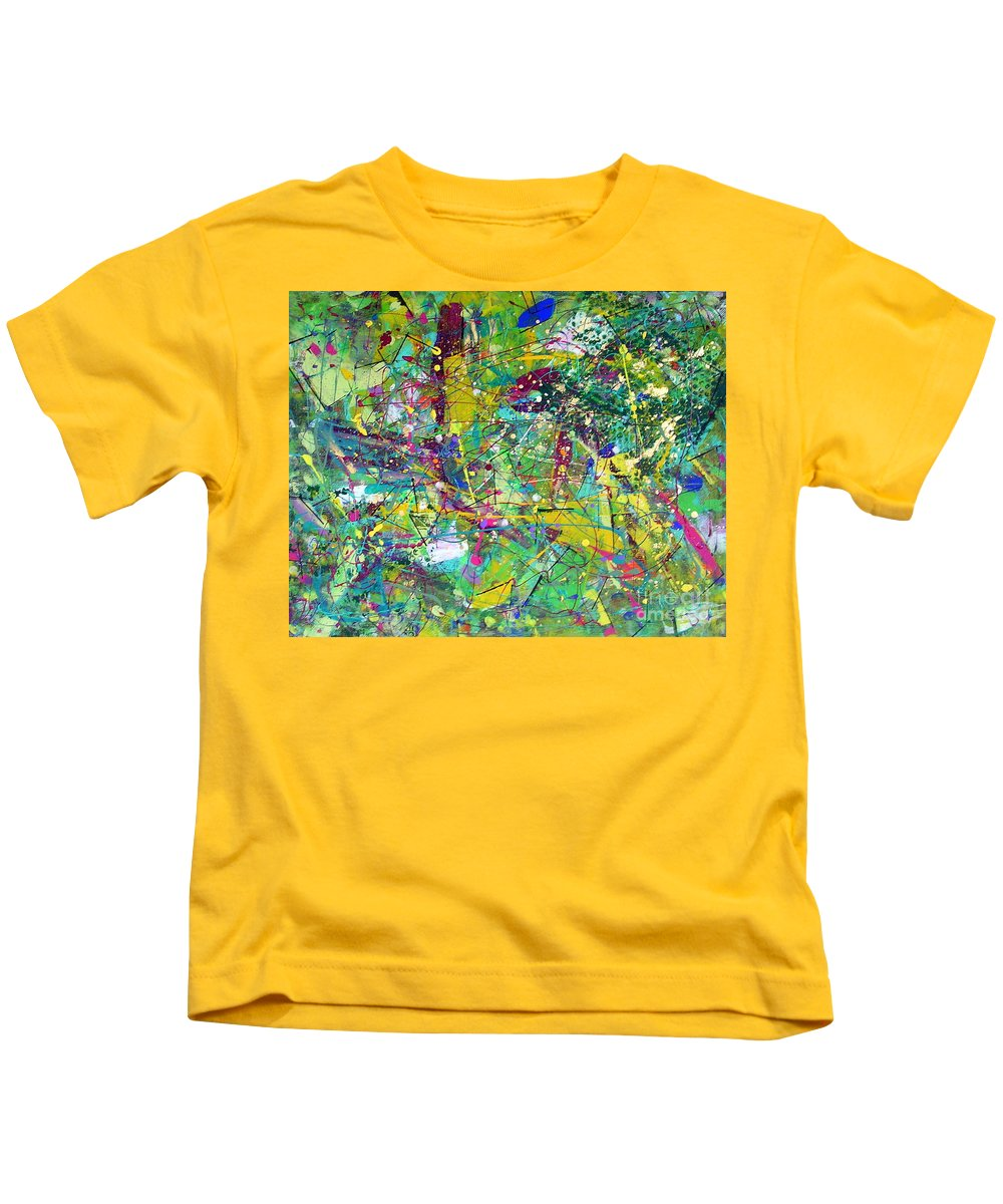 Eclectic Kids T-Shirt featuring the painting Eclectic by Dawn Hough Sebaugh
