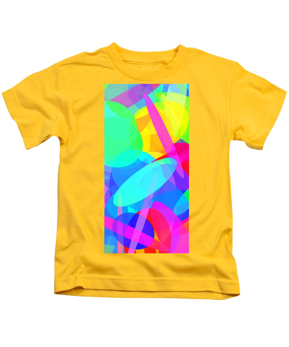 Ellipse Kids T-Shirt featuring the digital art Ellipses 19 by Chris Butler