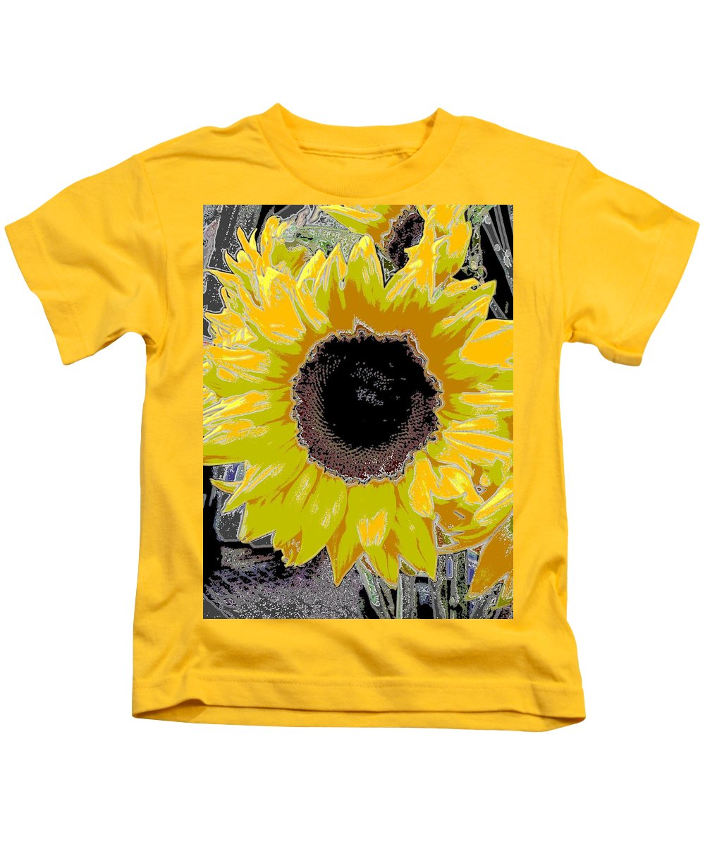 Sunflower Kids T-Shirt featuring the digital art Floral Sunbeam by Tim Allen