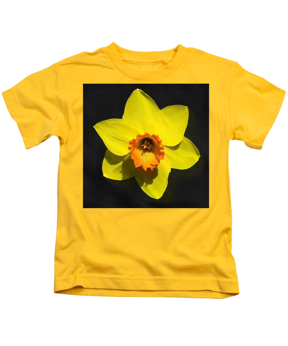 Bloom Kids T-Shirt featuring the painting Flower - Id 16235-220251-6209 by S Lurk