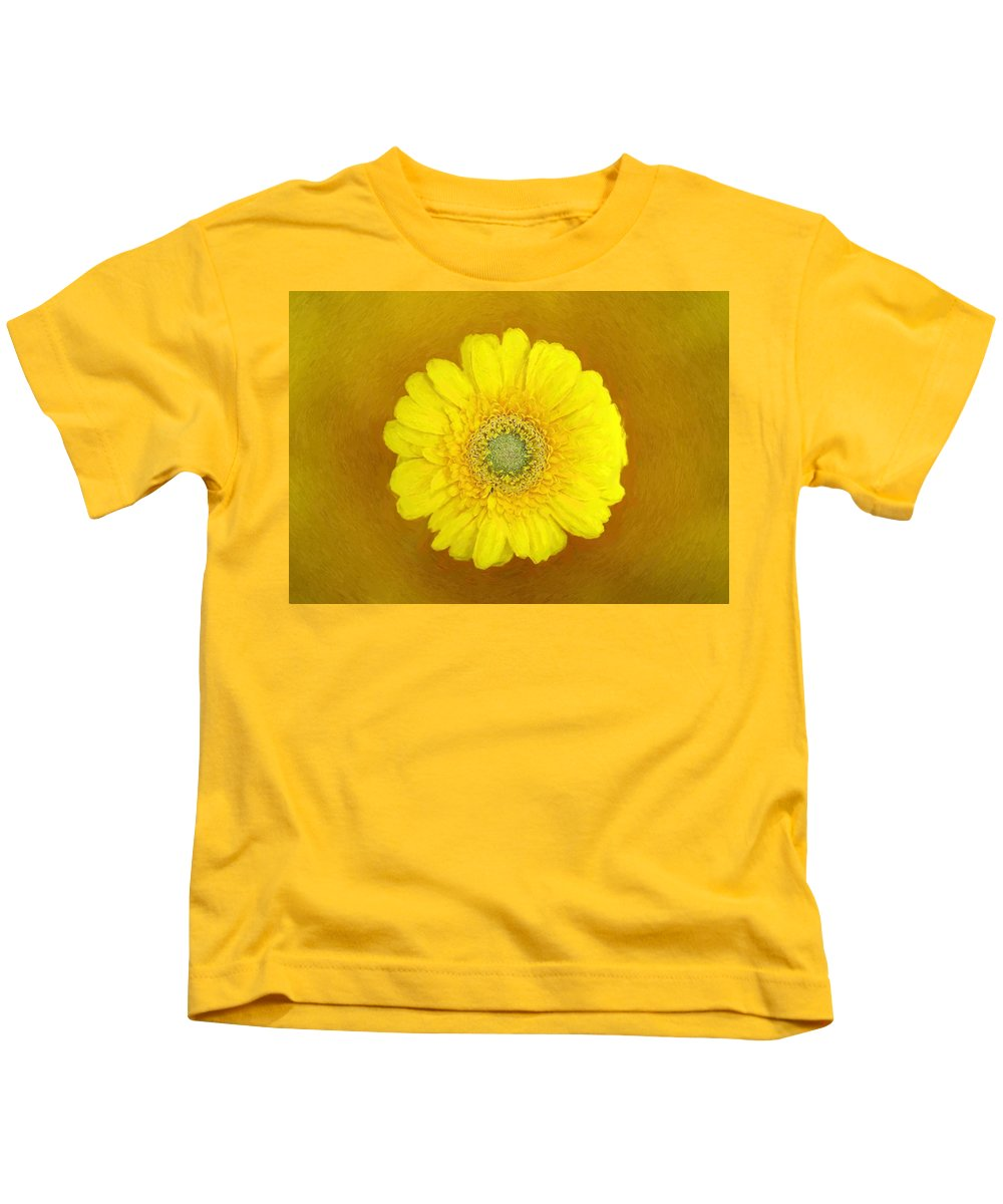 Bloom Kids T-Shirt featuring the painting Gerbera - Id 16235-220247-8361 by S Lurk