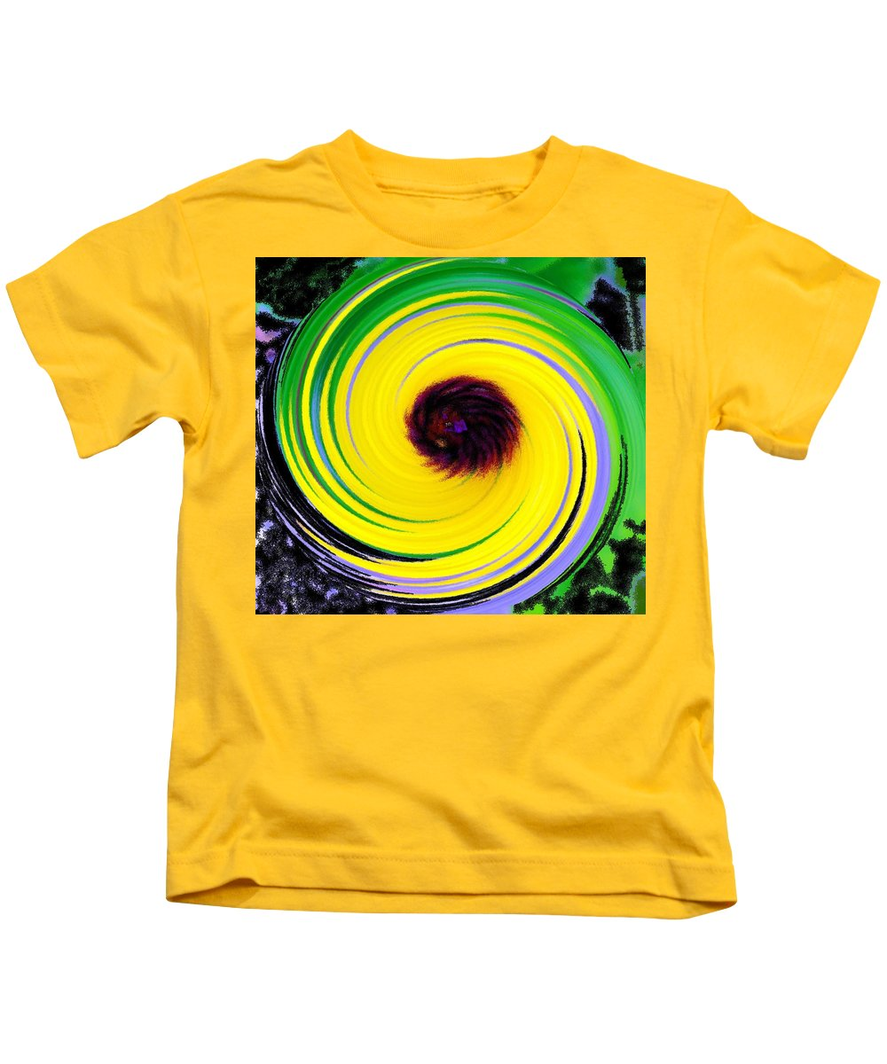 Abstract Kids T-Shirt featuring the digital art Green Rush by Ian MacDonald