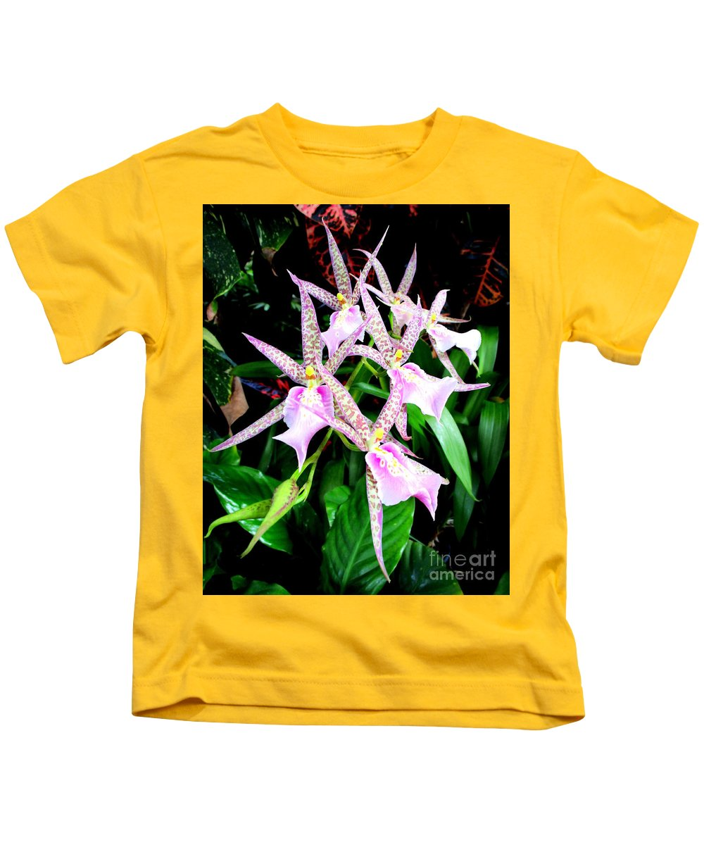 Orchid Kids T-Shirt featuring the photograph Hawaiian Orchid 31 by Randall Weidner