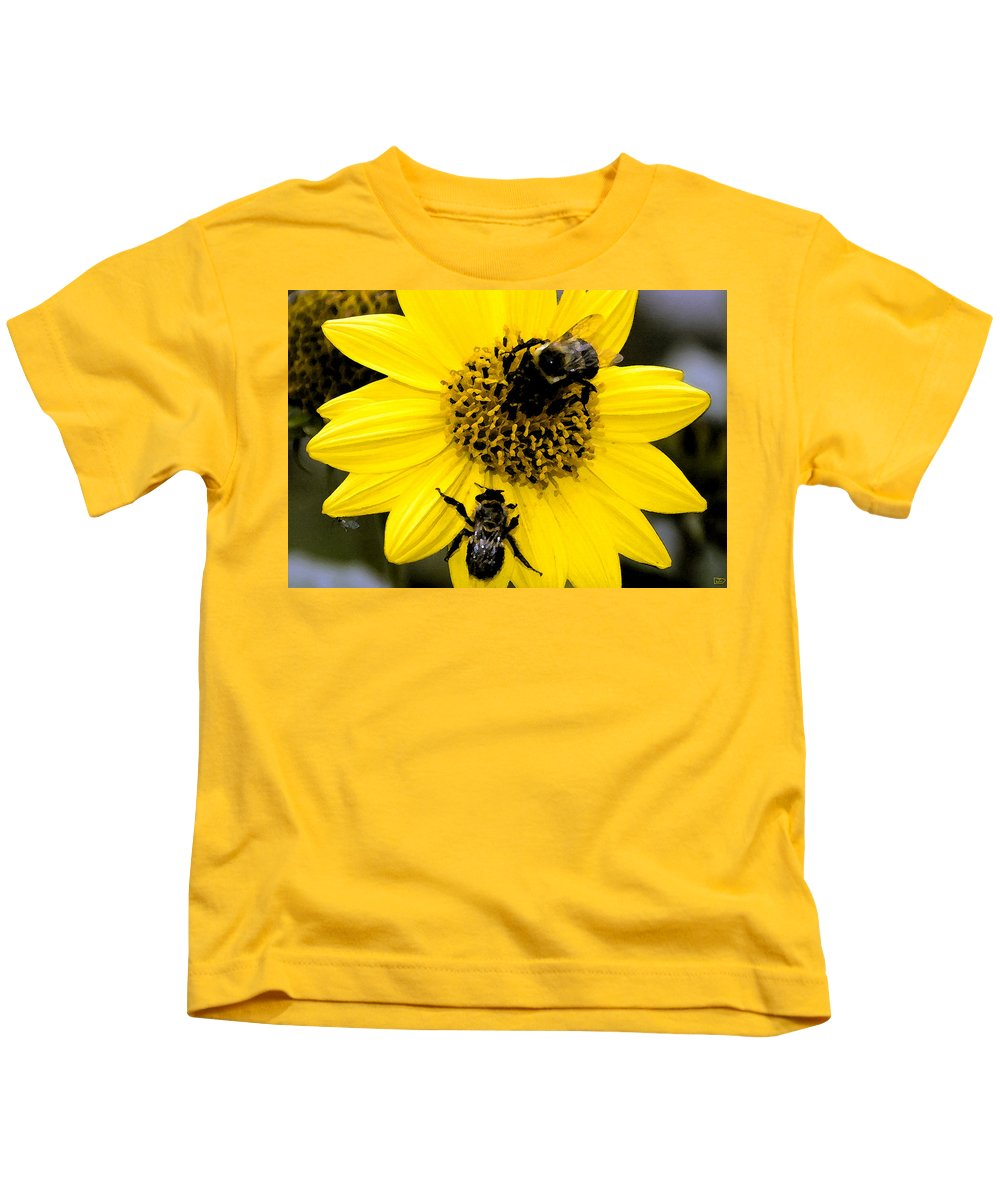 Honey Bees Kids T-Shirt featuring the painting Honey Bees by David Lee Thompson