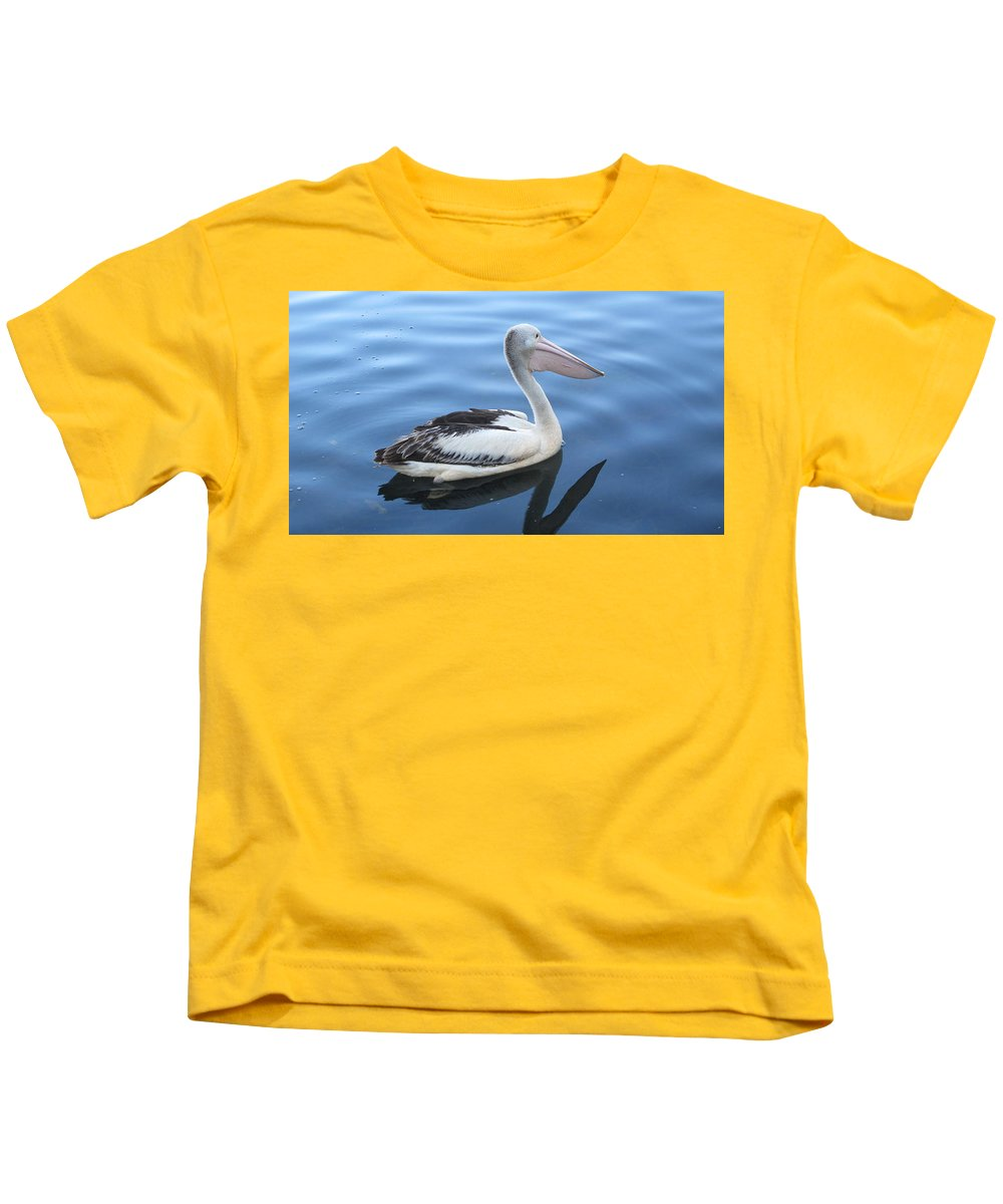 Swan Kids T-Shirt featuring the photograph Image Of Peace by Lannah Sawers-Diggins