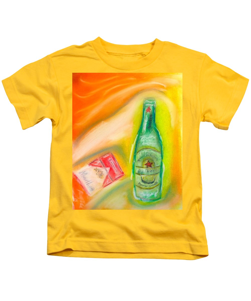 Pastel Kids T-Shirt featuring the painting Life by Patrick McClellan