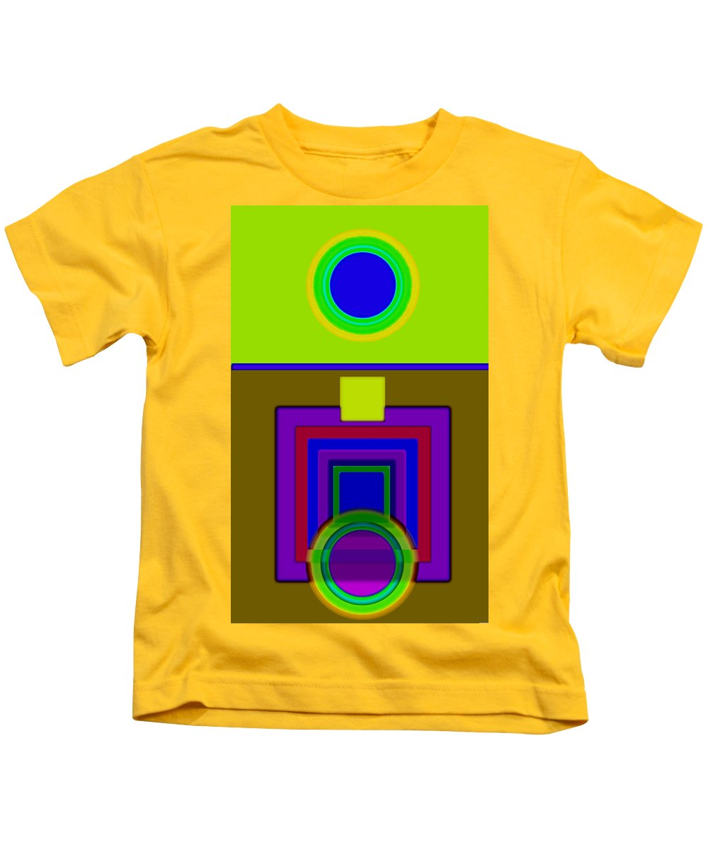 Classical Kids T-Shirt featuring the painting Lime Driver by Charles Stuart