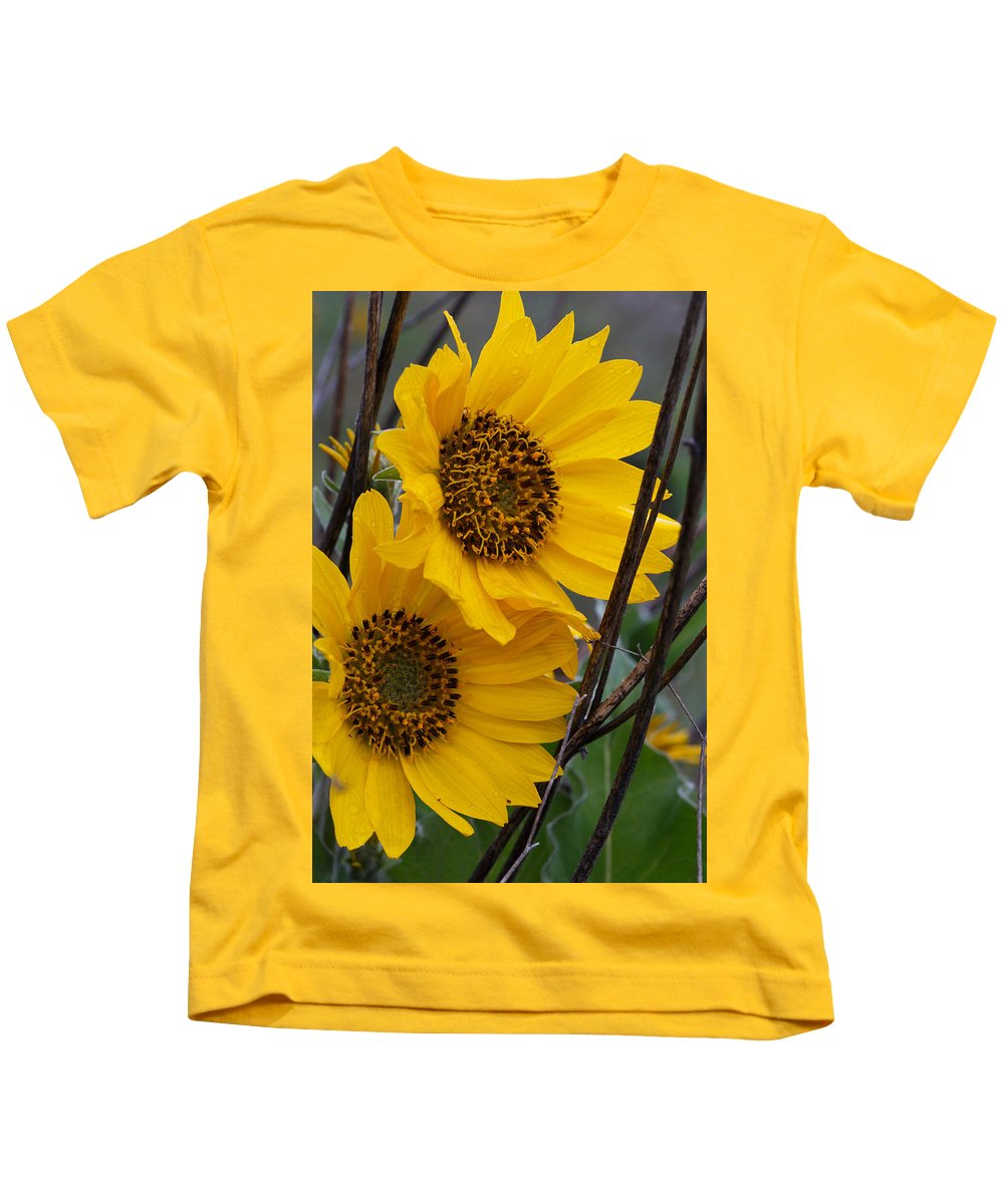 Flower Kids T-Shirt featuring the photograph Me And You by Peter Ramirez