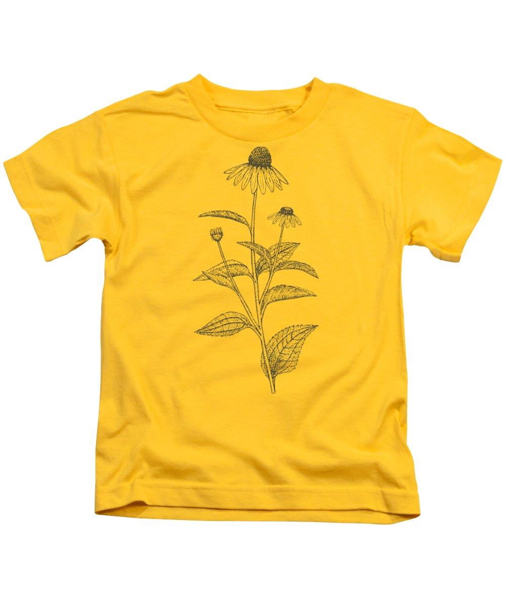 Cone Flower Kids T-Shirts