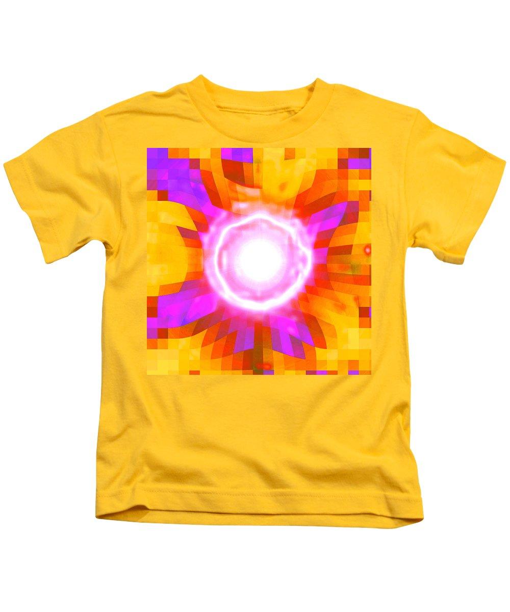 Moveonart! Digital Gallery Kids T-Shirt featuring the digital art Moveonart Sharing Caring Happiness Blessing by Jacob Kanduch