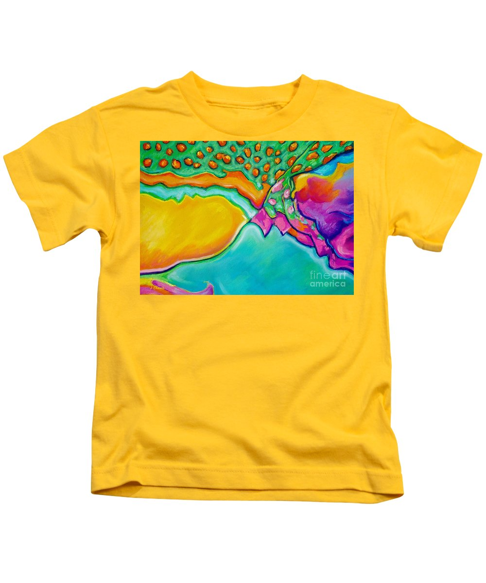 Abstract Kids T-Shirt featuring the pastel Parrotfish 2 by John Clark