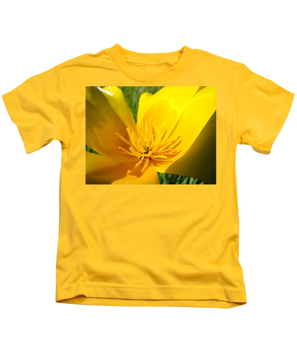 �poppies Artwork� Kids T-Shirt featuring the photograph Poppy Flower Close Up Macro 20 Poppies Meadow Giclee Art Prints Baslee Troutman by Baslee Troutman