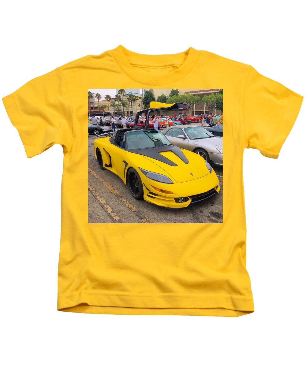 Porsche 911 Targa Gullwing Kids T-Shirt featuring the photograph Porsche 911 Targa Gullwing by MAG Autosport