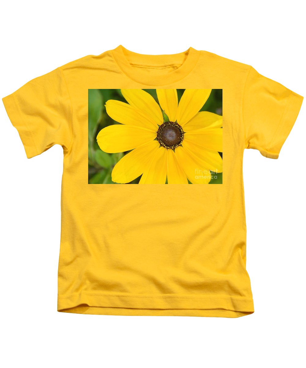 Yellow Flower Kids T-Shirt featuring the photograph Pretty In Yellow by David Lee Thompson