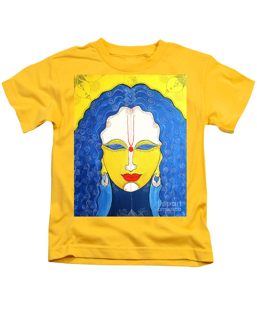 Shalimar Kids T-Shirt featuring the painting Shalimar by Shachi Srivastava
