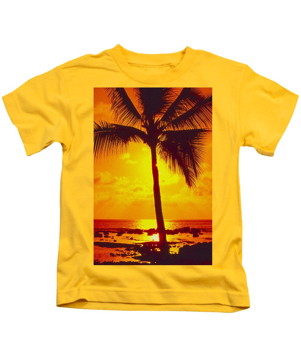 Bright Kids T-Shirt featuring the photograph Silhouetted Palm by Ron Dahlquist - Printscapes