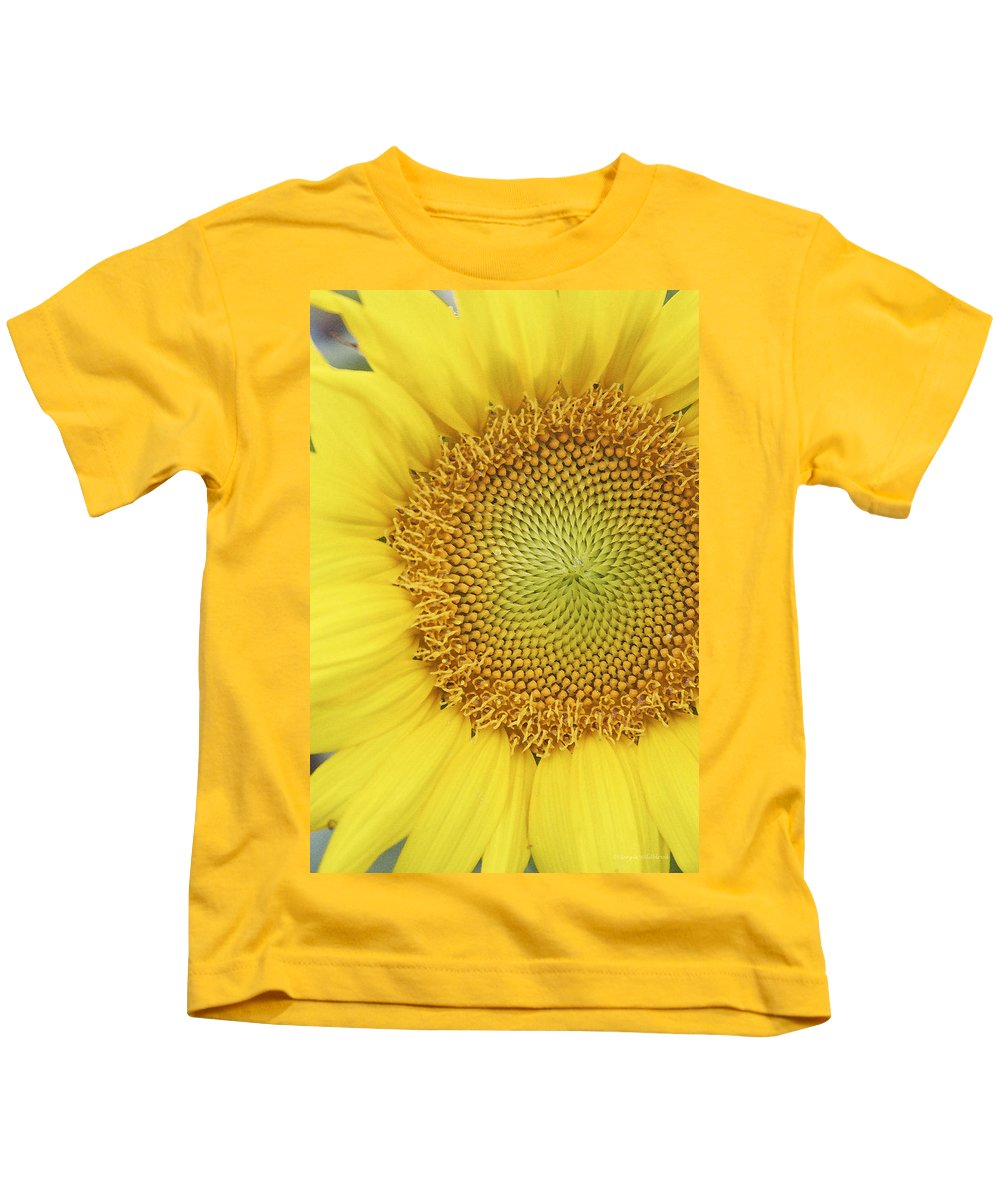 Sunflower Kids T-Shirt featuring the photograph Sunflower by Margie Wildblood