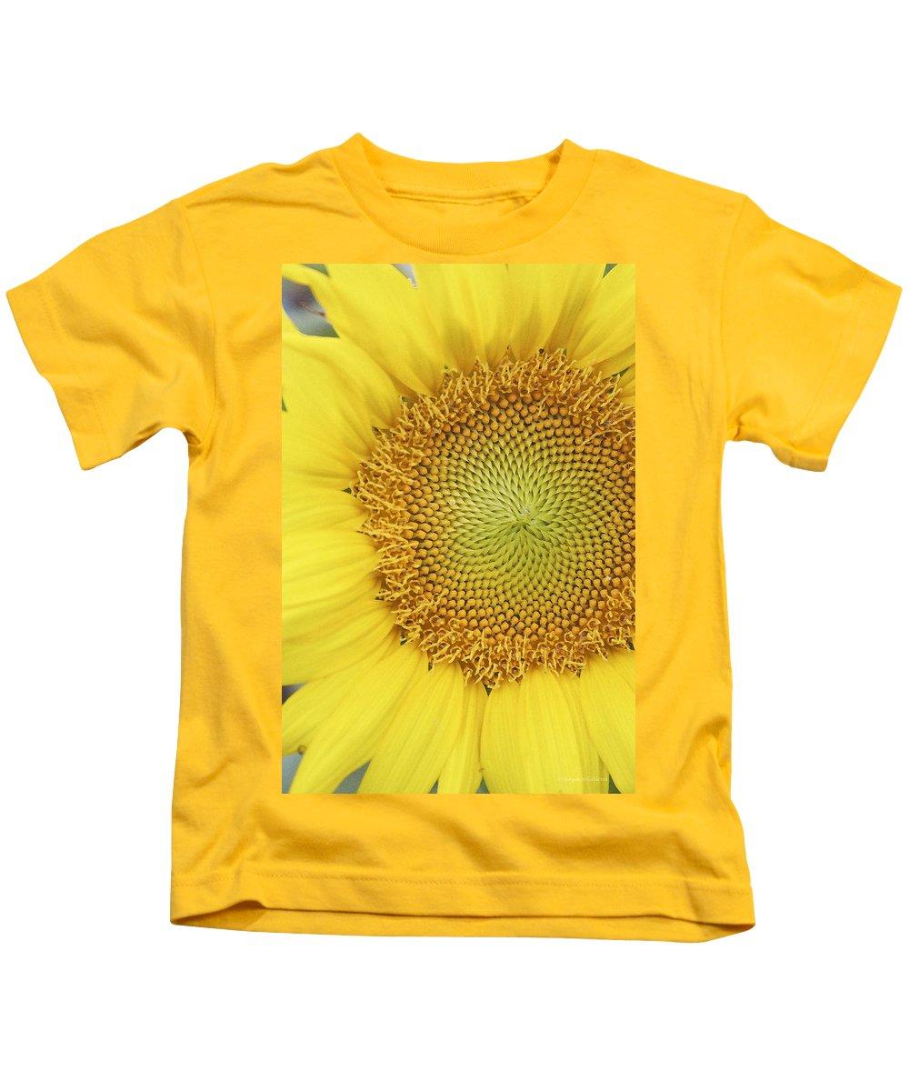 Sunflower Kids T-Shirt featuring the photograph Sunflower by Margie Wildblood
