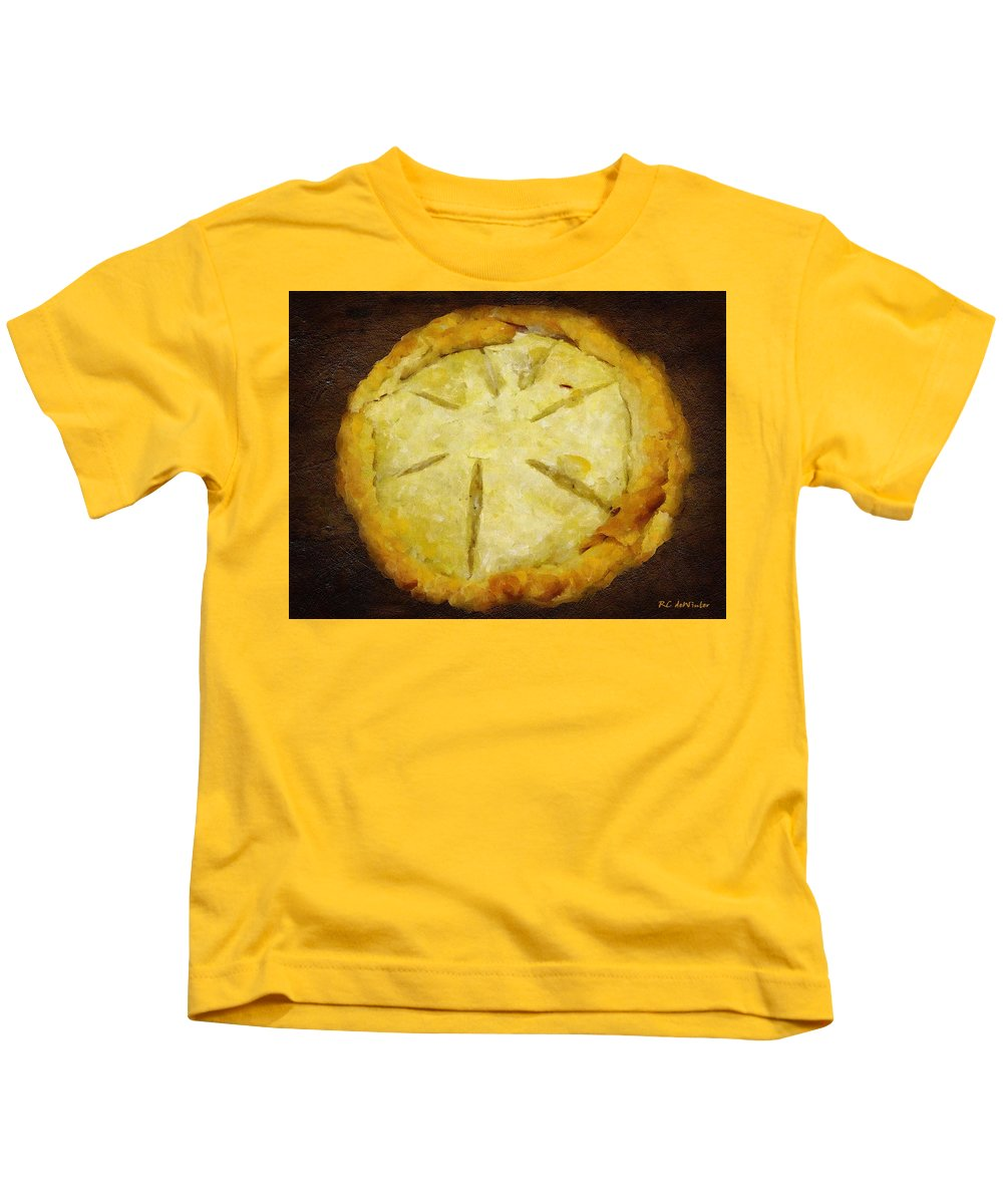 Pie Kids T-Shirt featuring the painting The Art Of The Pie by RC DeWinter