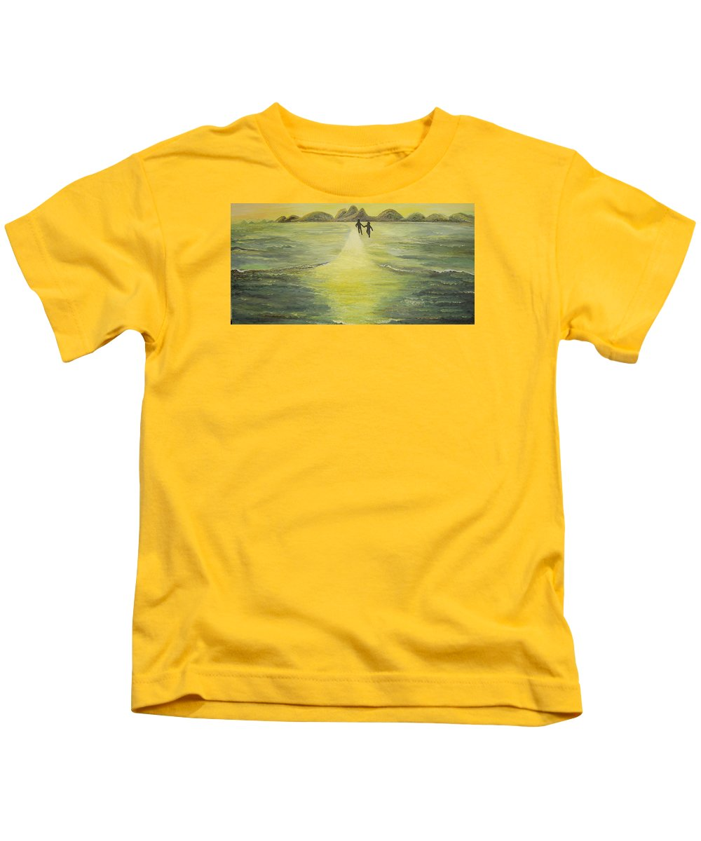 Soul Kids T-Shirt featuring the painting The Road In The Ocean Of Light by Karina Ishkhanova