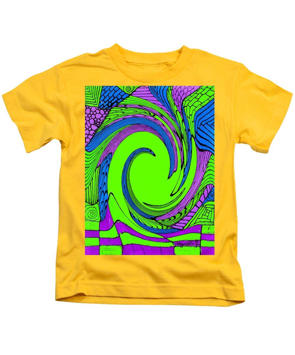 Vortex Kids T-Shirt featuring the painting Vortex by Wayne Potrafka