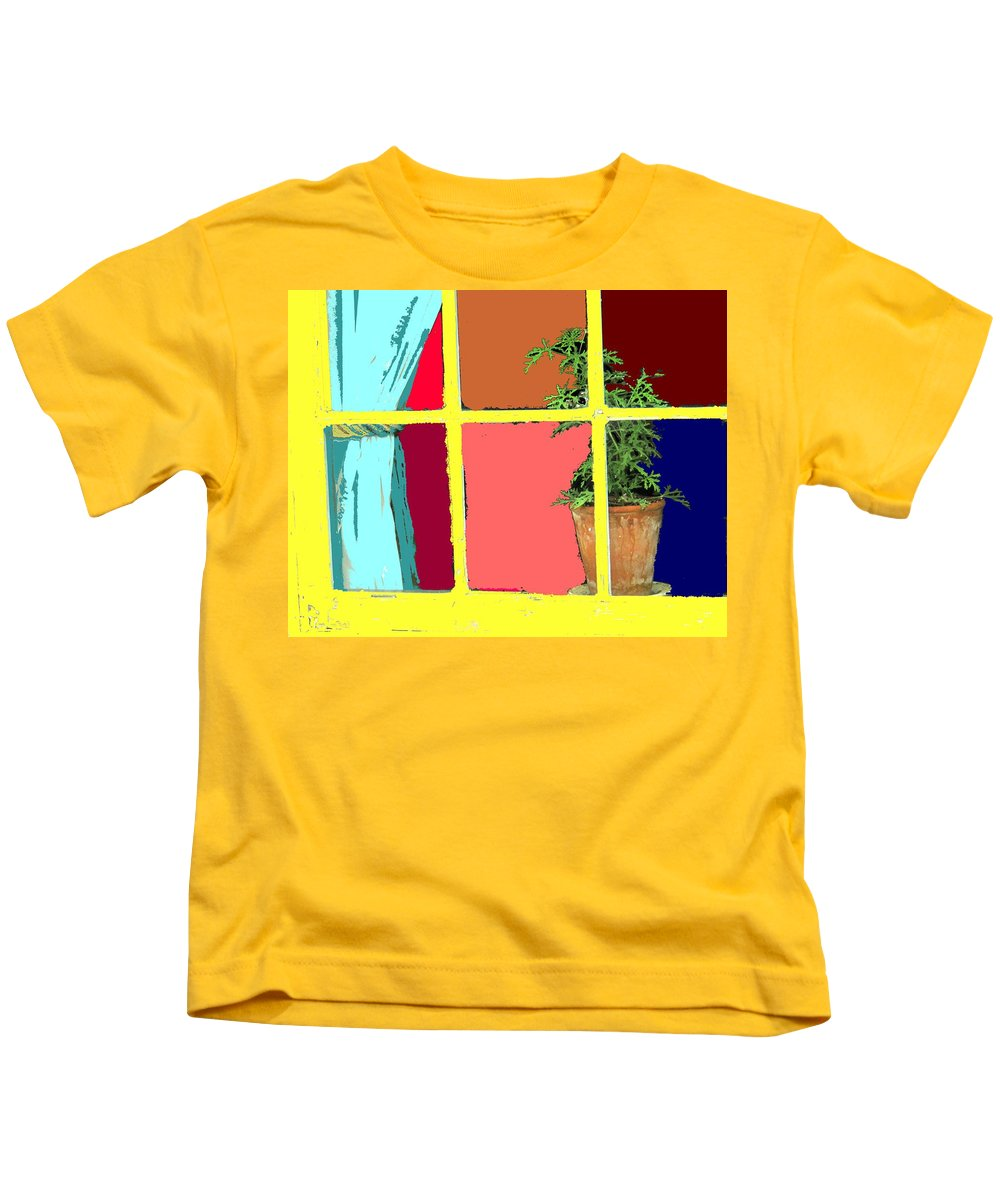 Window Kids T-Shirt featuring the photograph Window by Ian MacDonald