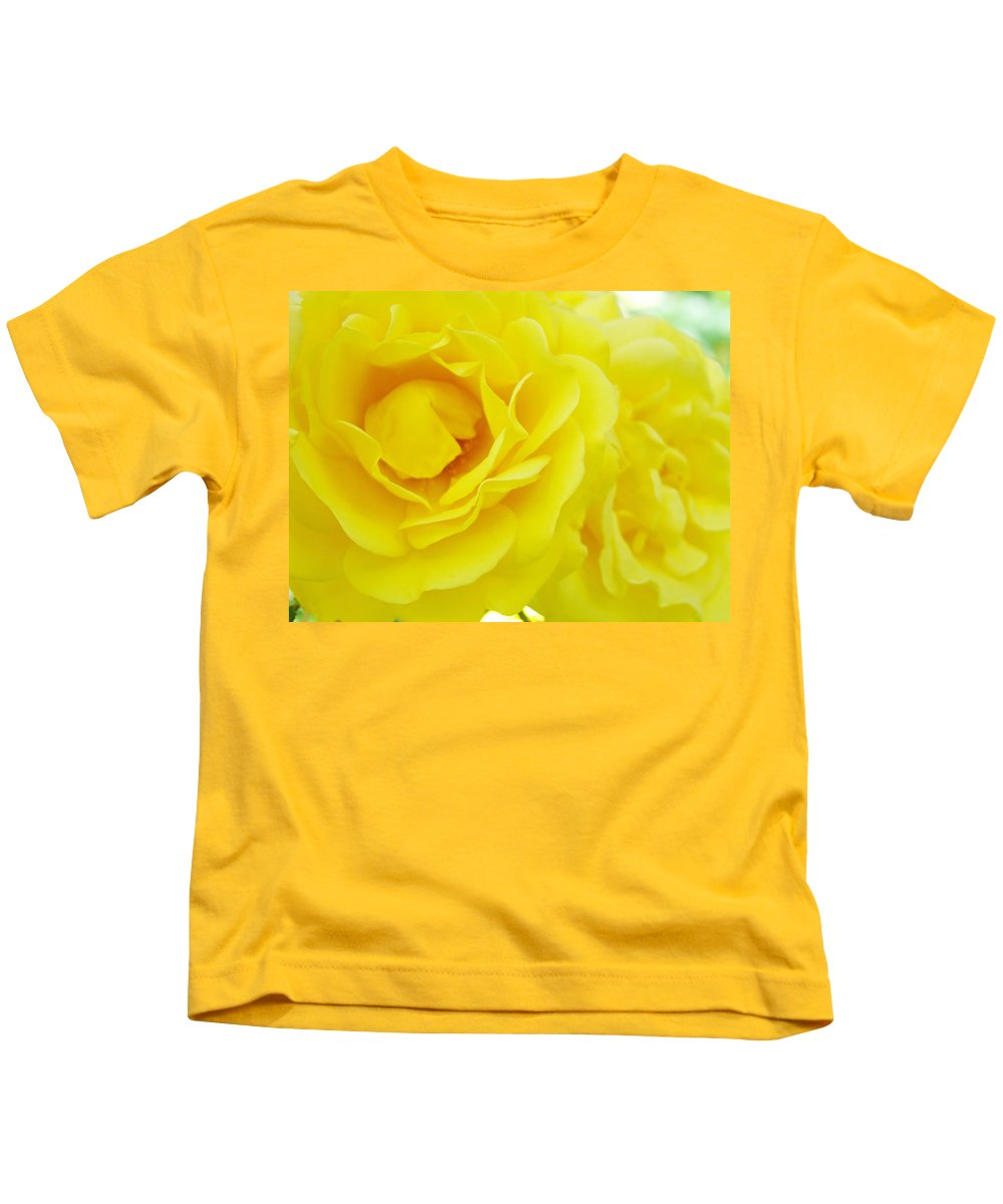 Rose Kids T-Shirt featuring the photograph Yellow Roses Art Prints Botanical Giclee Prints Baslee Troutman by Baslee Troutman