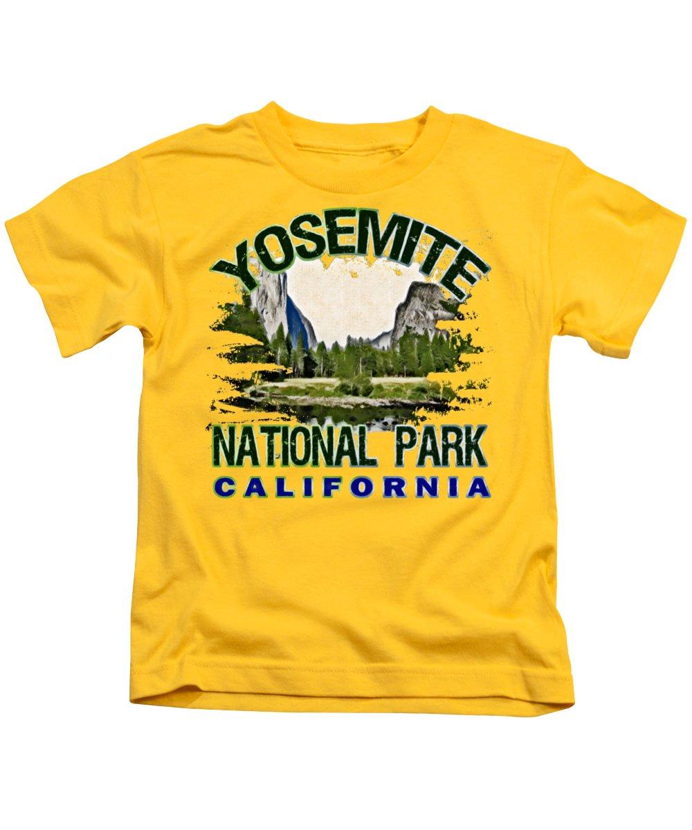 Yosemite National Park Kids T-Shirts