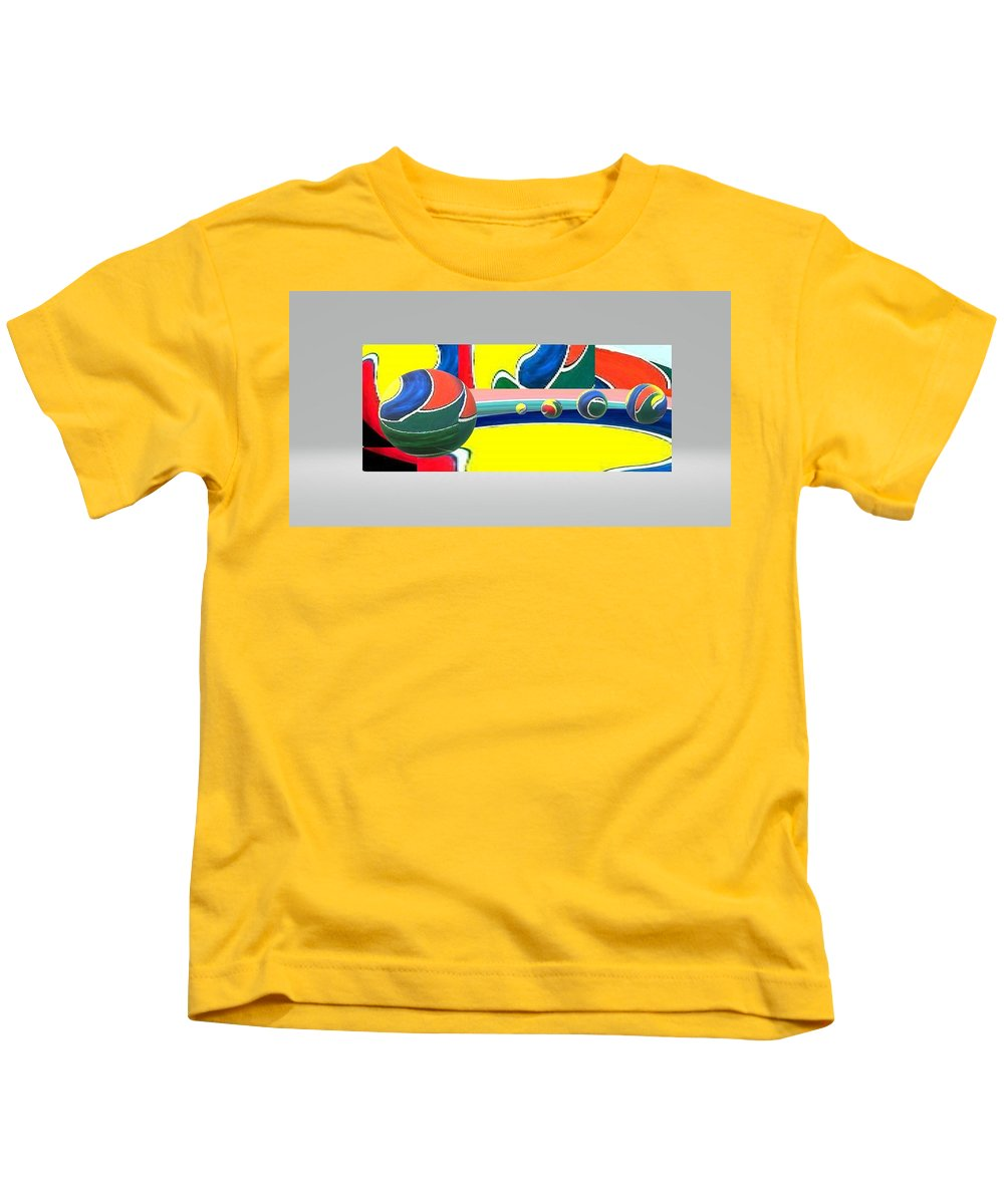 Kids T-Shirt featuring the digital art 3Dindept by Andrew Johnson