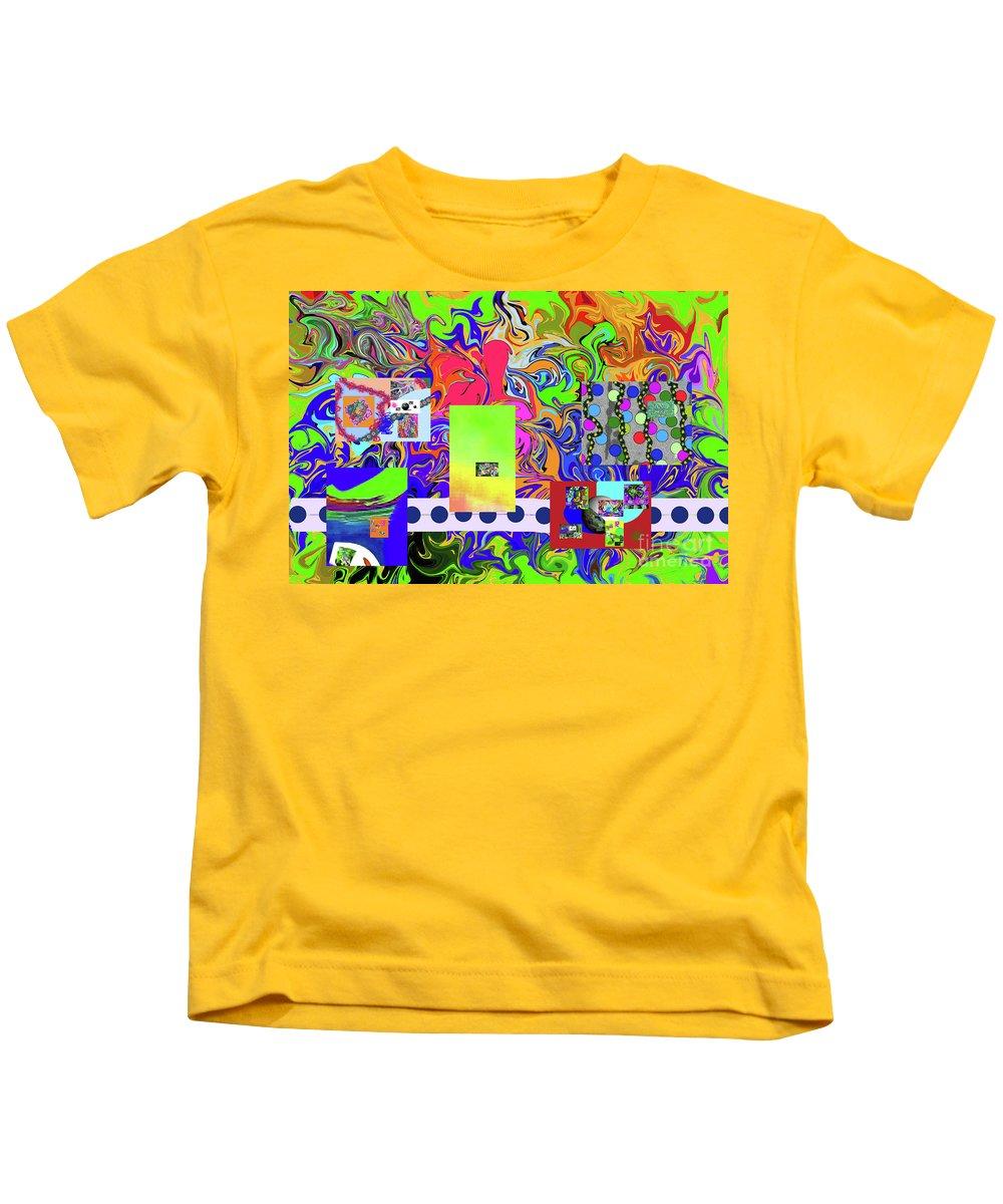 Walter Paul Bebirian Kids T-Shirt featuring the digital art 9-10-2015babcdefghijklmnopqrtuvwxyza by Walter Paul Bebirian