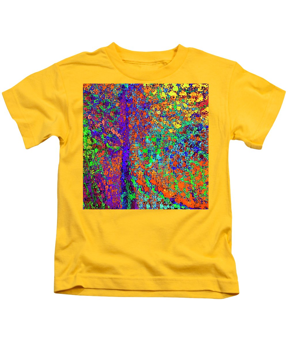 Kids T-Shirt featuring the digital art Abstract Visions I by Rafael Serur