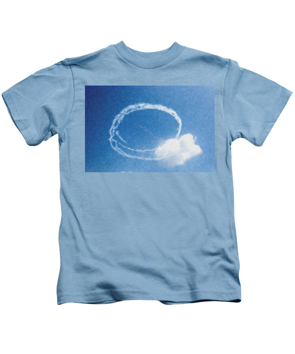 Chicago Kids T-Shirt featuring the digital art 0036 - Air Show - Pastel Chalk by David Lange